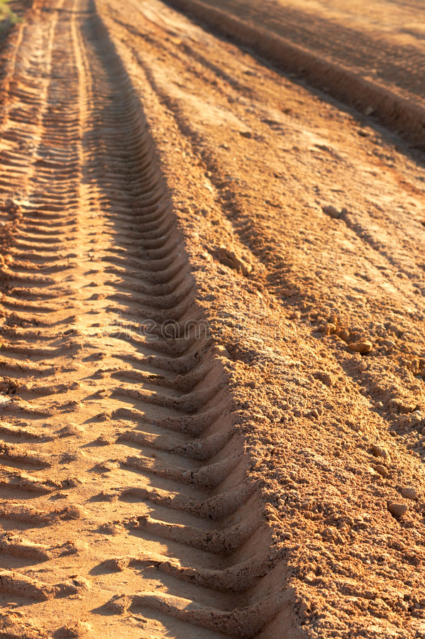 Download Dusty Gravel Road With Imprint Stock Photo - Image: 2807070