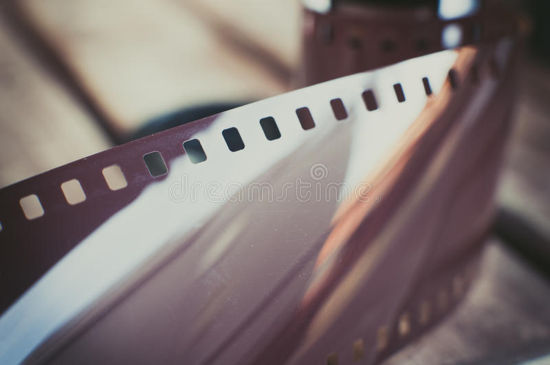 Dusty old photographic roll and film stock photos