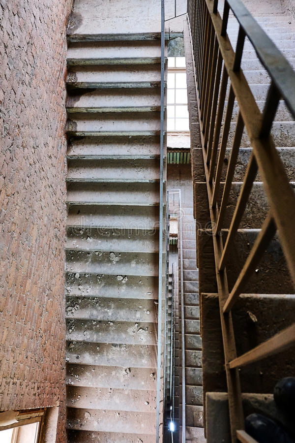 Dusty old stairs royalty free stock photo