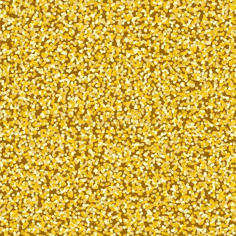 Dusty Overlay Gold Texture für Ihr Design Nahtloses Vektormuster in Form eines Kiesels mögen goldenen Sand Goldenes metallisches  vektor abbildung