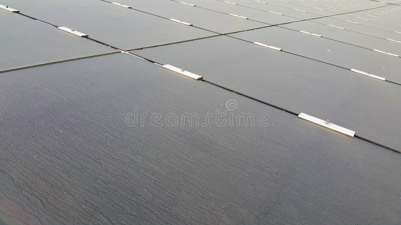 Dusty Photovoltaic Panels sucio imagen de archivo libre de regalías