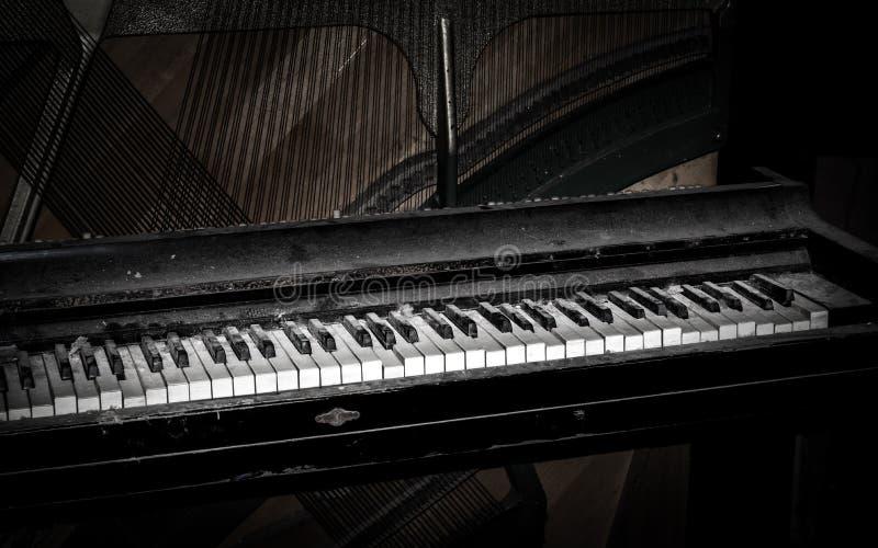 Dusty Piano stockfotografie