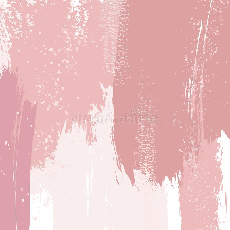 Free Dusty Rose And Pink Brush Strokes And Gold Lines. Pastel Gold Brush Strokes Contour Pattern. Delicate Luxury Foil Royalty Free Stock Images - 144014649