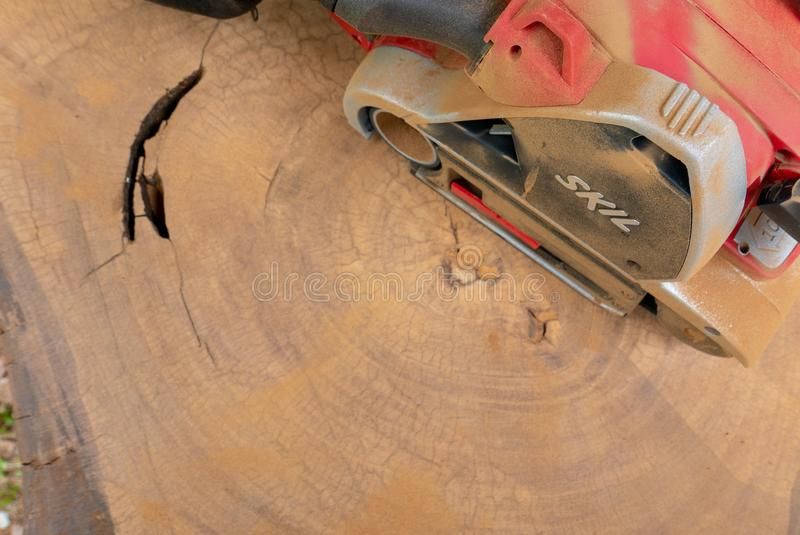Dusty Skil-merk elektrische schuurmachine royalty-vrije stock afbeelding
