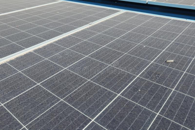 Dusty Solar Panels sale images libres de droits