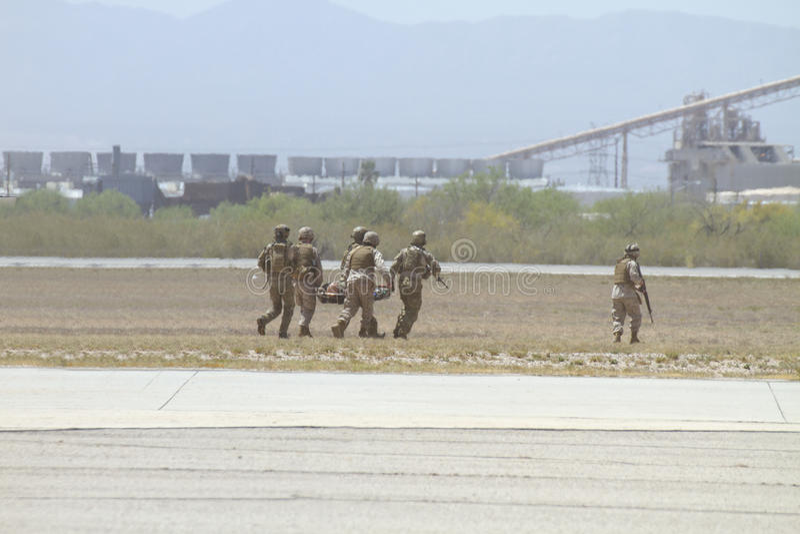 Download Dusty USA Marine Unit Military Evacuation Editorial Stock Photo - Image: 24448058