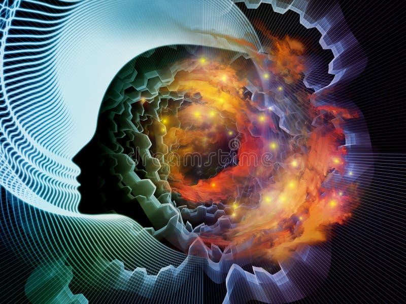 Dusza i umysł ilustracja wektor