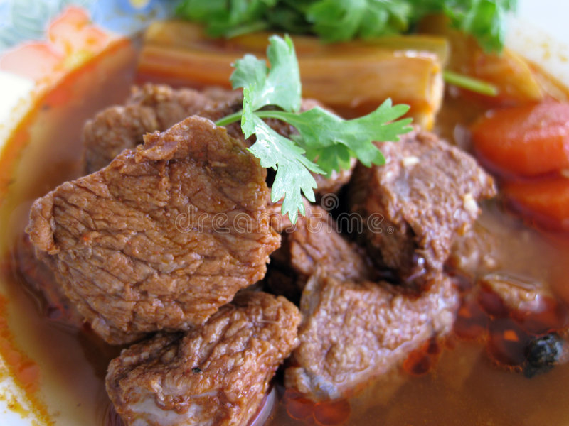 duszone wołowiny zdjęcia stock