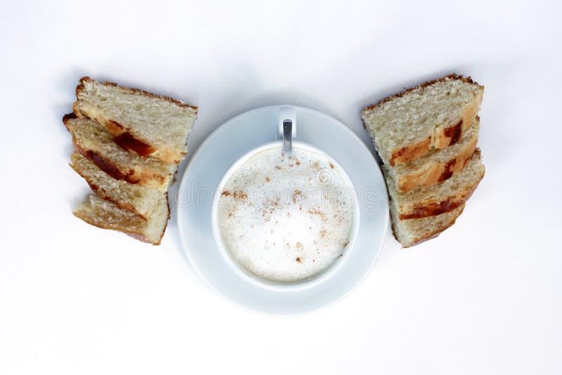 Duszy Płaska kawa zdjęcia royalty free