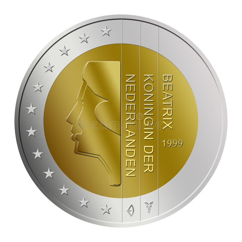 Dutch 2 Euro Coin royalty free stock image