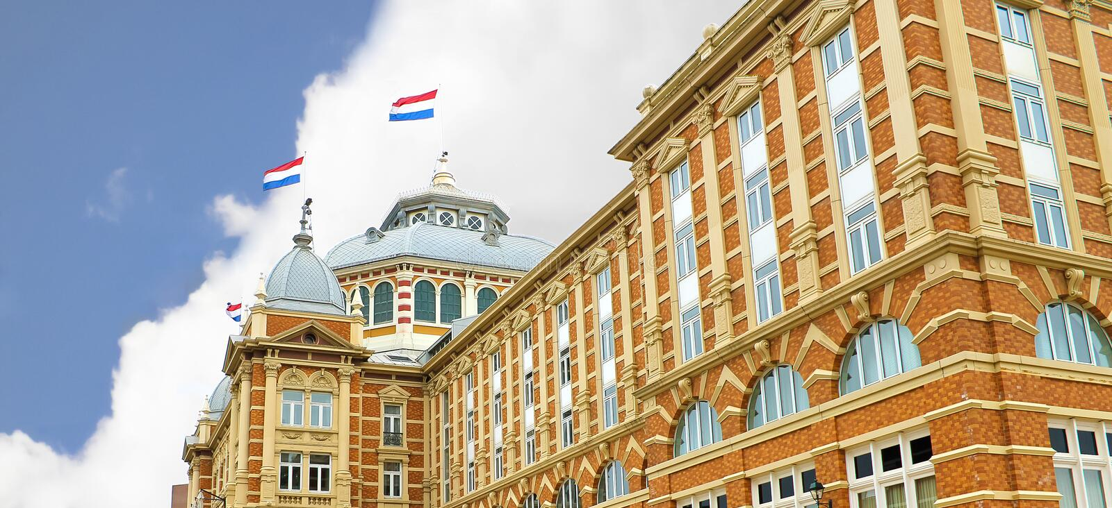Download Dutch Beach Resort With Famous Kurhaus Hotel . Stock Image - Image: 25145249