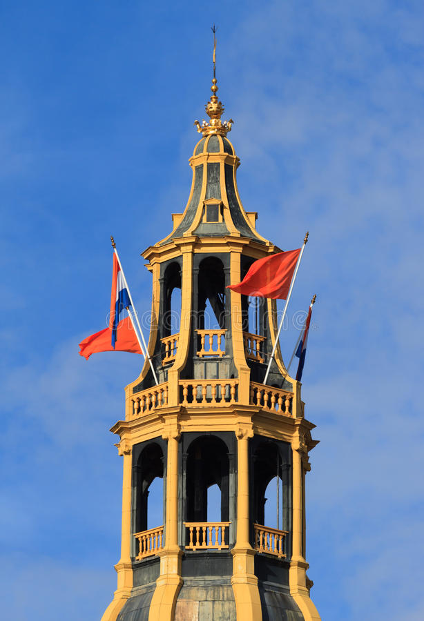 Dutch bell tower royalty free stock photo