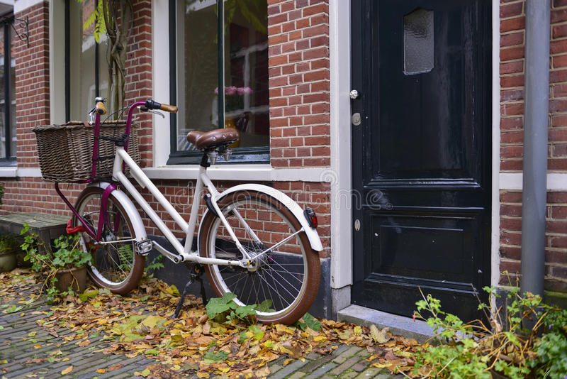 Download Dutch bike with basket stock image. Image of basket, brown - 27745815