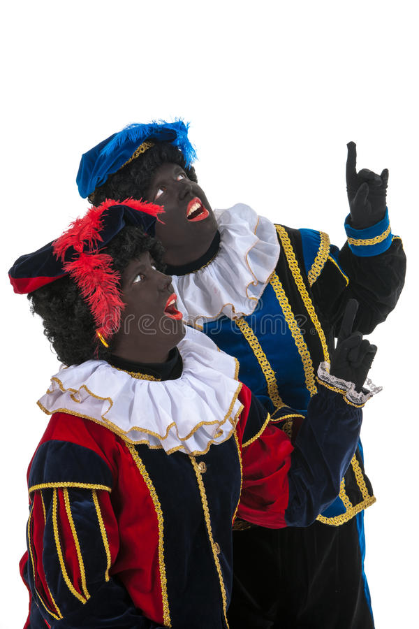 Download Dutch Black Petes Pointing Stock Images - Image: 27647644