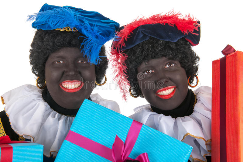 Download Dutch Black Petes With Presents Stock Image - Image: 27647665