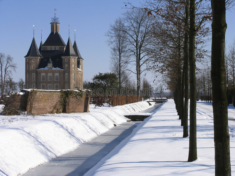 Download Dutch castle 4 stock image. Image of holland, property, winter - 87433