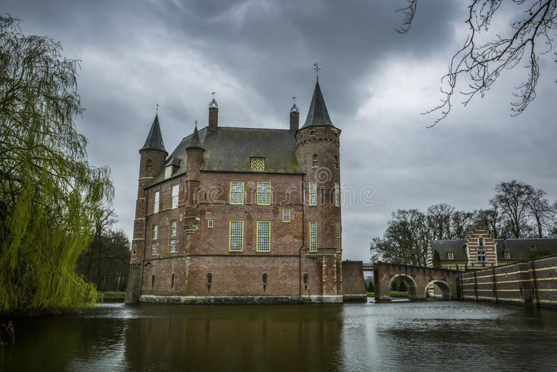 Dutch castle heeswijk royalty free stock photography