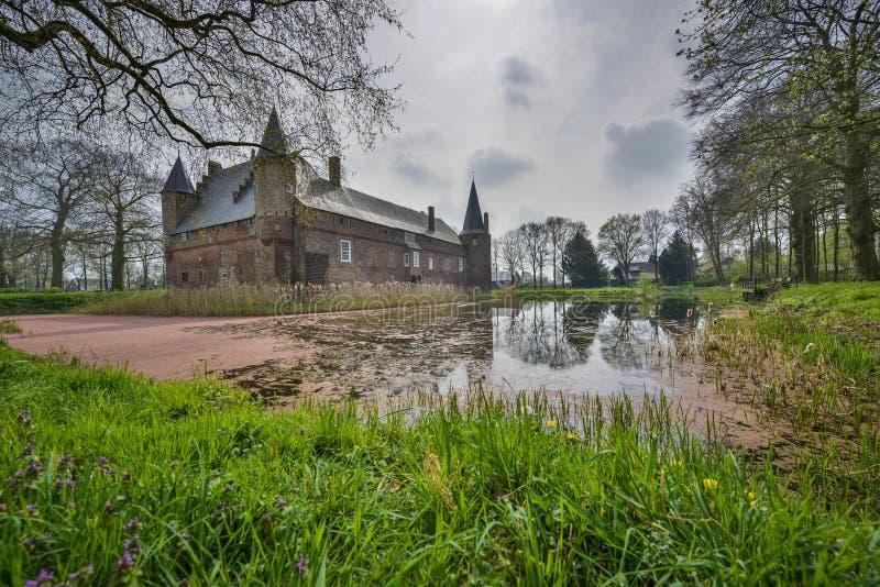 Dutch castle hernen stock photo