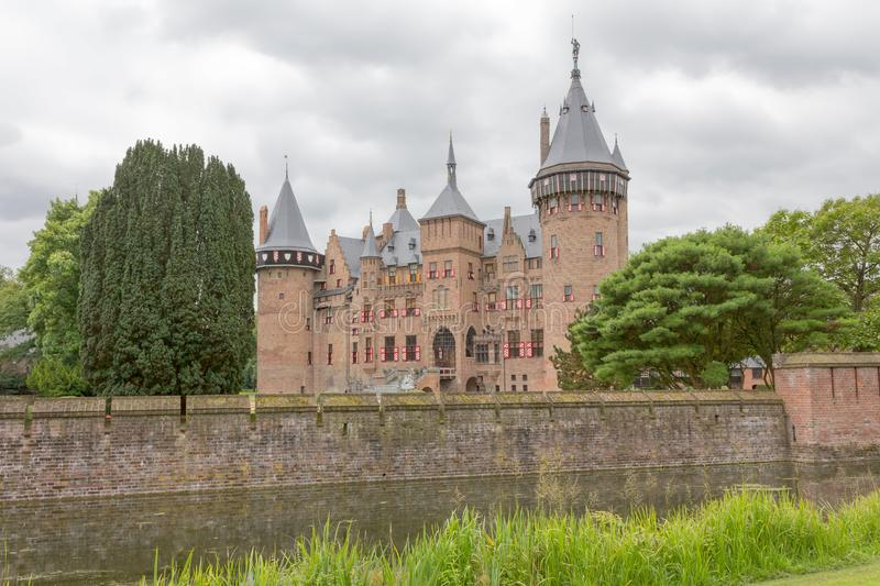Dutch castle with many towers. royalty free stock image