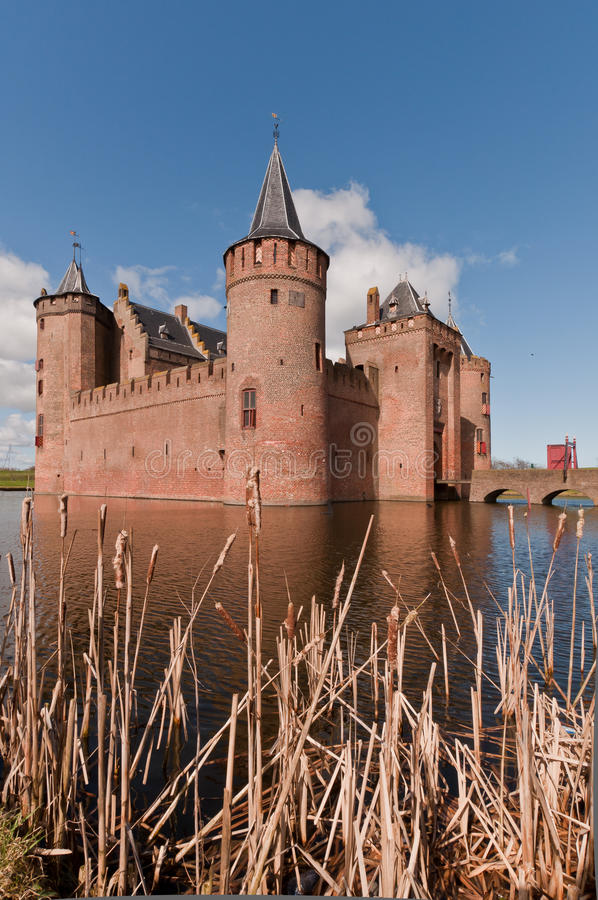 Dutch Castle (Muiderslot) royalty free stock photography
