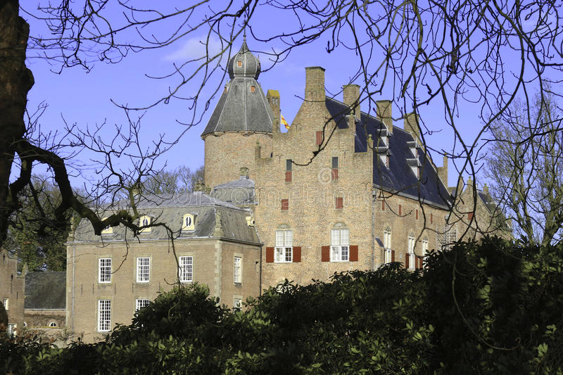 Dutch Castle. Rechteren near Ommen, the Netherlands royalty free stock image