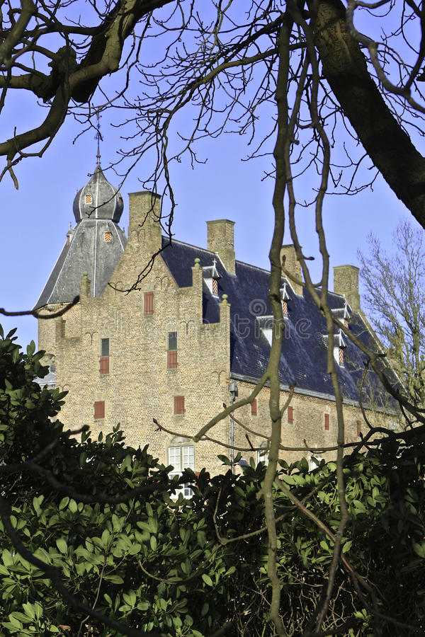 Dutch Castle. Rechteren near Ommen, the Netherlands royalty free stock images