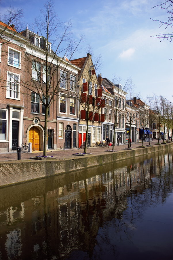 dutch channel town view stock photos