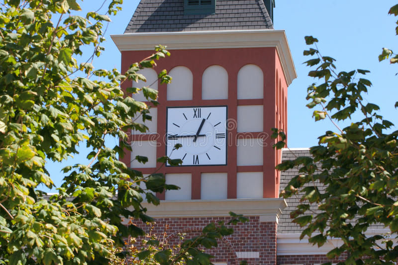Dutch Clock Tower in Trees stock image