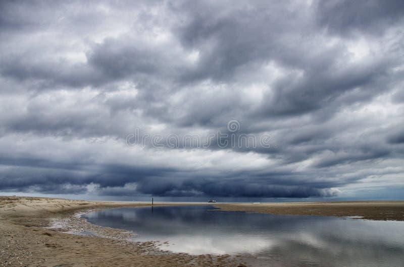 Dutch clouds stock photo