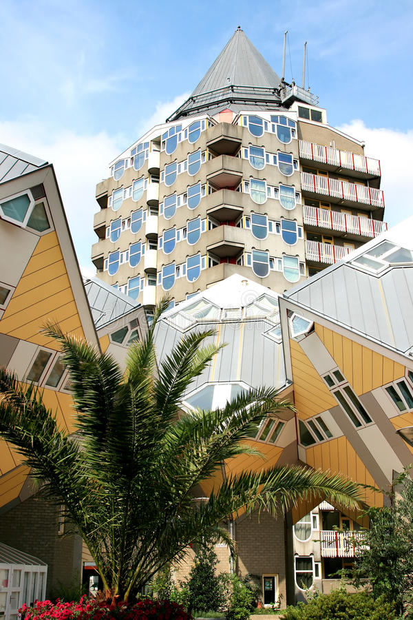 Dutch Cube Houses And Pencil Tower, Rotterdam Royalty Free Stock Image