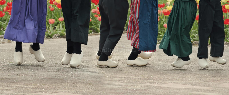 Dutch Dancers Royalty Free Stock Image