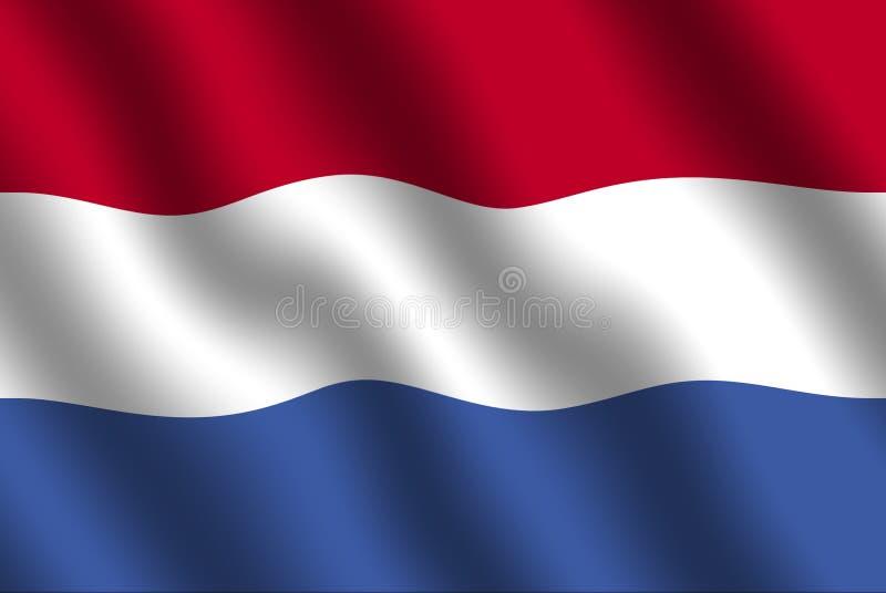 dutch flagę ilustracja wektor