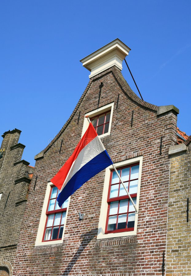 dutch flagę zdjęcia stock