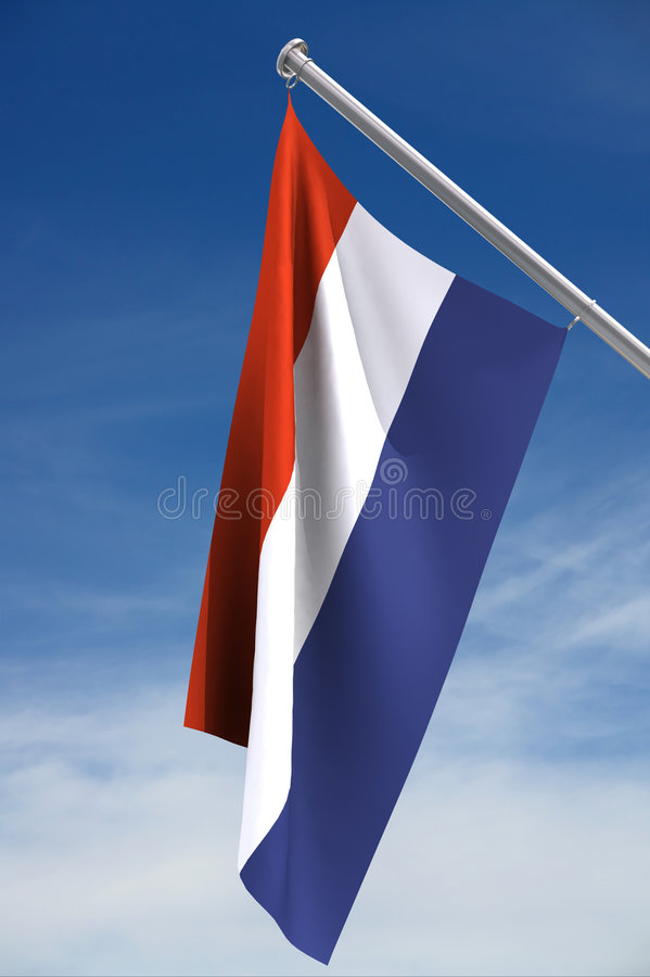Dutch Flag royalty free illustration