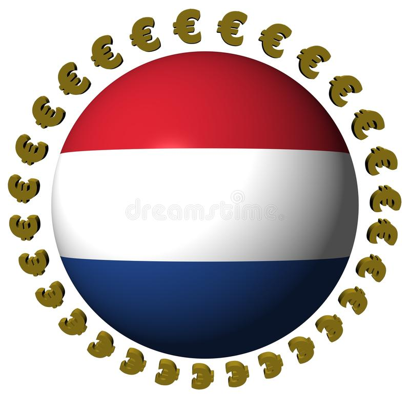 Dutch flag sphere with euros