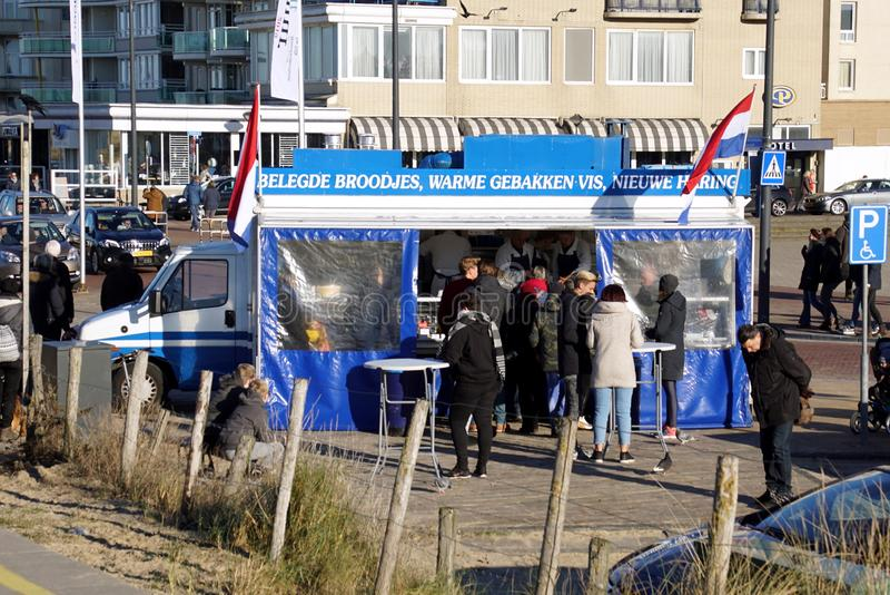 Dutch fresh fish food truck royalty free stock photos