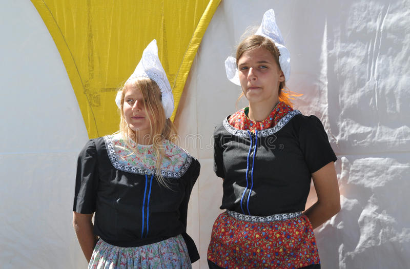 Dutch Girls. At Edmonton's Heritage Days royalty free stock images