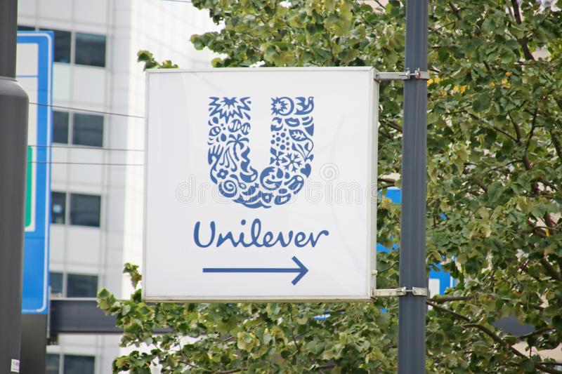Dutch head office of the Unilever company at the Weena in downtown Rotterdam in the Netherlands. royalty free stock photo