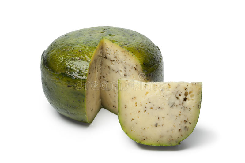 Dutch herbal and pesto cheese royalty free stock photography