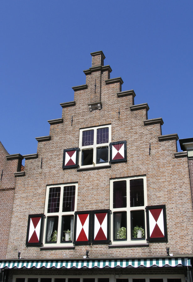 Download Dutch historic facade 1 stock image. Image of tradition - 114421