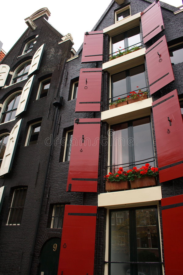 Download Dutch House in Amsterdam stock image. Image of colourful - 3515635