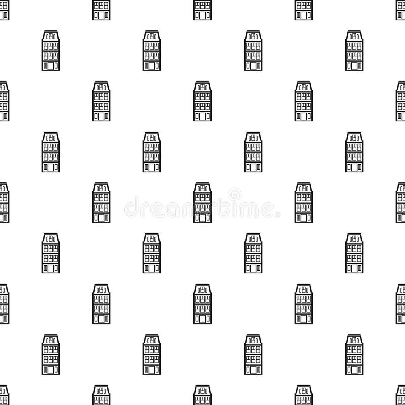 Dutch house pattern, simple style. Dutch house pattern. Simple illustration of dutch house vector pattern for web royalty free illustration