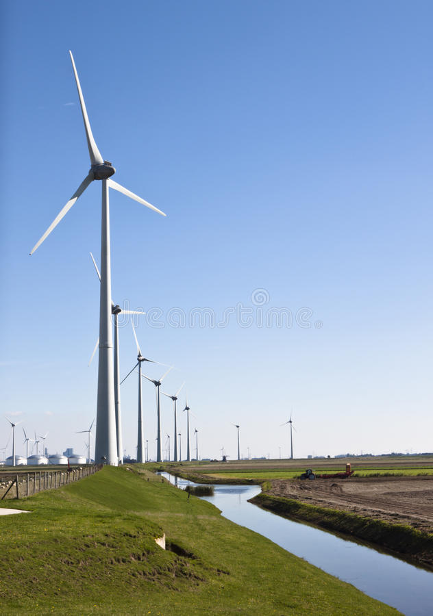 Dutch industrial landscape, Groningen royalty free stock photo