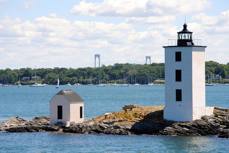 Dutch Island Lighthouse stock photo