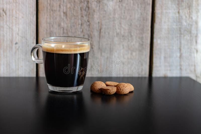 Dutch kruidnootjes for the Sinterklaas celebration with a cup of coffee royalty free stock photography