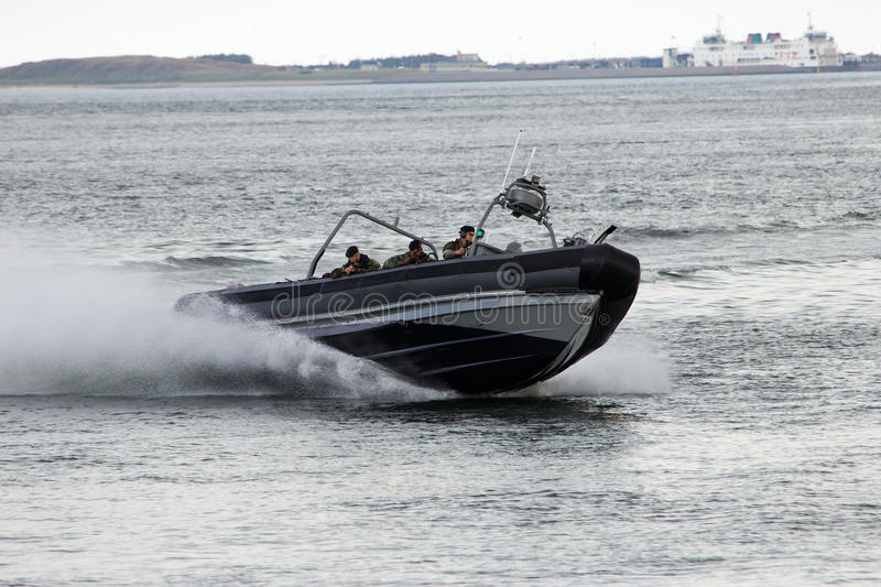 Download Dutch Marines speedboat editorial stock photo. Image of forces - 25618828