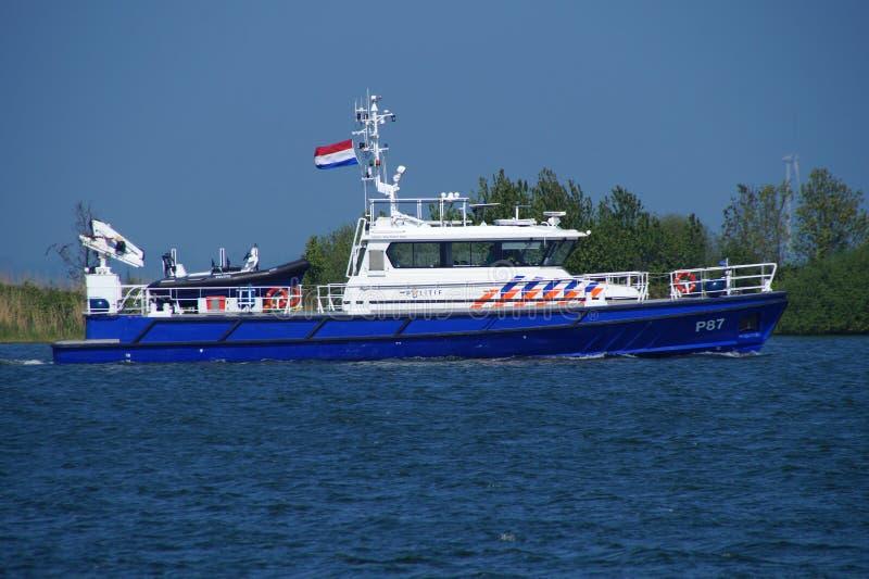 Dutch National Police Patrol vessel P 87 royalty free stock photos