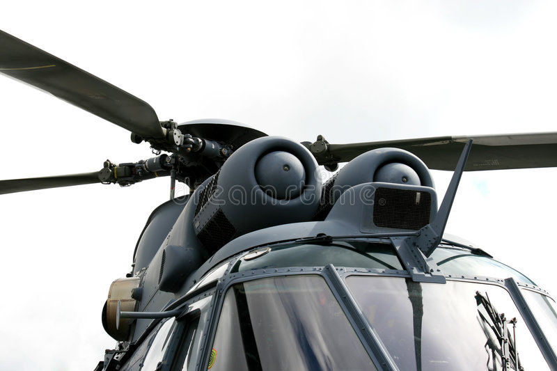 Dutch navy helicopter stock image