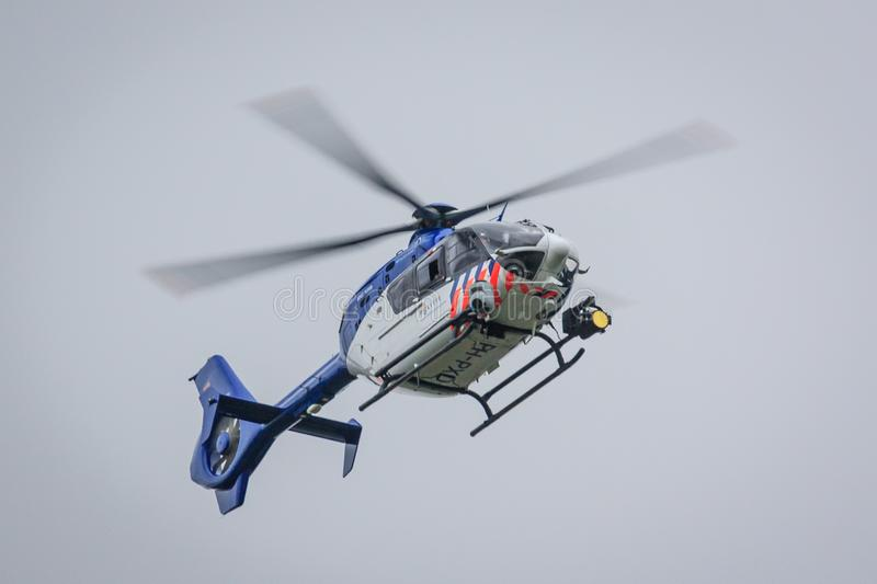 Dutch police helicopter royalty free stock photo