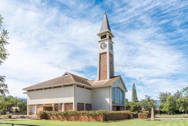 Dutch Reformed Church in Bonnievale. BONNIEVALE, SOUTH AFRICA - MARCH 26, 2017: The Dutch Reformed Church in Bonnievale, a small town in the Western Cape royalty free stock photos